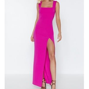 NASTYGAL Square with Me Maxi Dress - NWT!